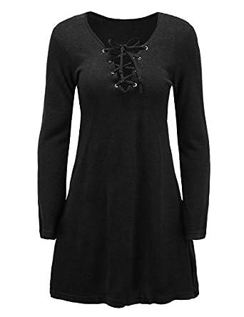 Paule Trevelyan Primavera NEW das mulheres de mini dress vestidos das senhoras de malha de algodão solto bonito dress cor sólida preto bandage cruz sexy ...