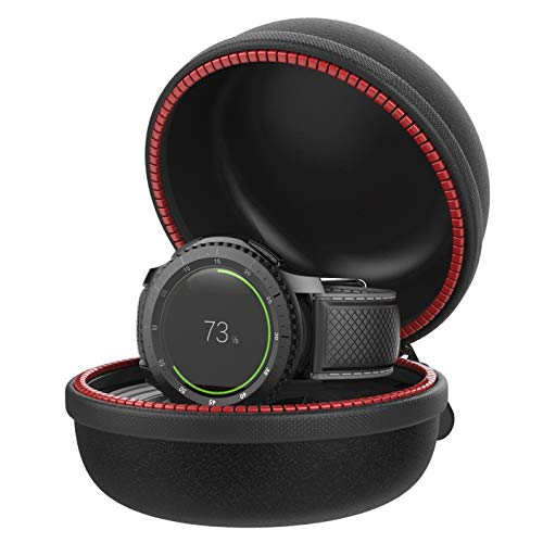 Moretek Gear S3 Charging Holder, Protective Portable Travel Case EVA Charger Stand Docking Station Dock Cradle for Samsung Gear S3 Frontier Classic Smart Watch Accessories (Gear S3)