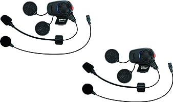 Sena SMH5D-UNIV Auriculares e Intercomunicador Bluetooth SMH5 para Escúteres y Motocicletas con Juego de Micrófono Universal
