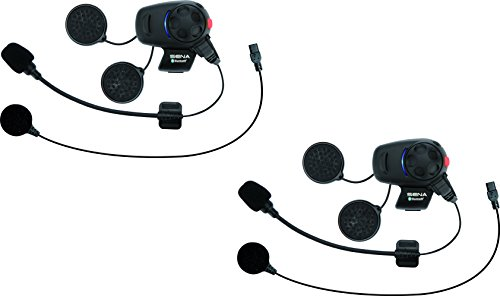 Sena SMH5D-UNIV Bluetooth Headset and Intercom for Scooters/Motorcycles with Universal Microphone Kit (Dual Pack) ()