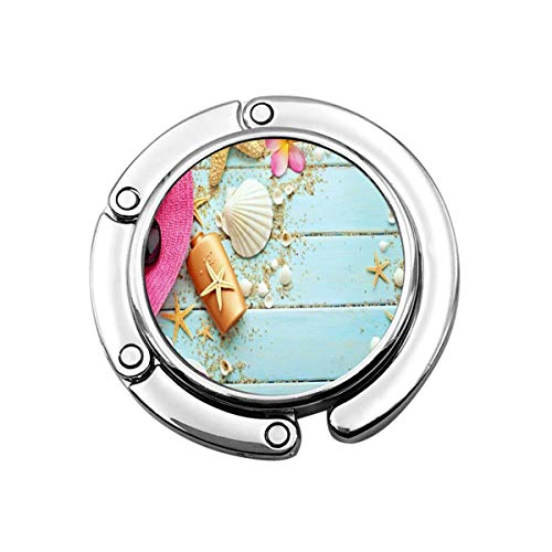Purse Hook Beach Seashell Mermaid Handbag Hanger for Table Office Decor Compact Bag Storage Girls