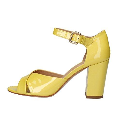 amarillo GELMETTI mujer vestir Sandalias EMANUELE de amarillo para charol de T1qBxvw87