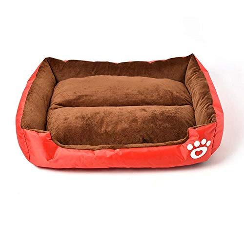 Red 55x50 cm Red 55x50 cm ZRL77y Soft Cozy Bed and Nest Super Soft Warm Pet Kennel Dog Bed House Candy colord Pet Nest Beds Fall Winter for Cat Puppy (color   Red, Size   55x50 cm)