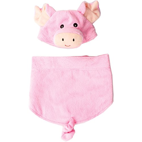 Ethical Fashion Pet Pig Costume with Elastic Bottom Curly Tail (Pig Costume For Dogs)