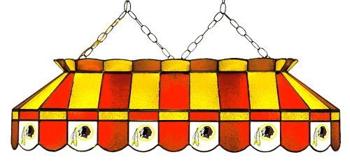 (Imperial Officially Licensed NFL Merchandise: Tiffany-Style Stained Glass Billiard/Pool Table Light, Washington Redskins)