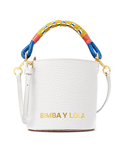 Lola y bag Bimba White leather 181BBGG2P bucket Femme qfnd7Pa5