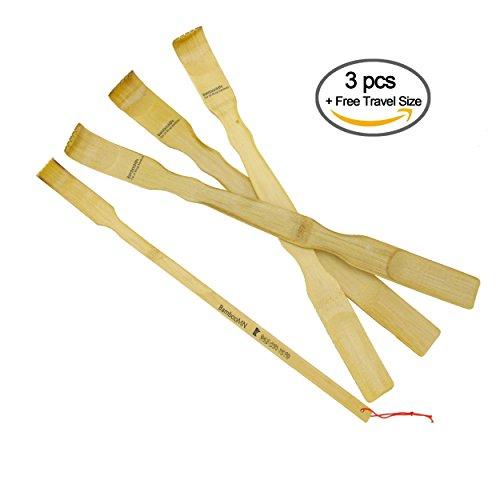 Combination Bamboo Scratcher Backscratcher Shoehorn