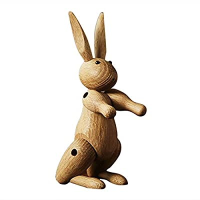 jiulonerst Lovely Wooden Rabbit Puppet Ornaments Children's Room Decor Kids Toy: Computers & Accessories