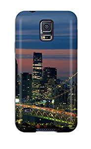 Premium Tokyo Bridge Japan Back Cover Snap On Case For Galaxy S5