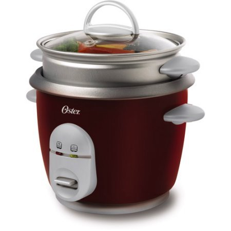 Oster 6-Cup Rice Cooker and Steamer, Removable non-stick pot