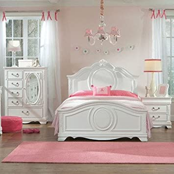 Standard Furniture Jessica 3 Piece Kids\' Panel Bedroom Set in White