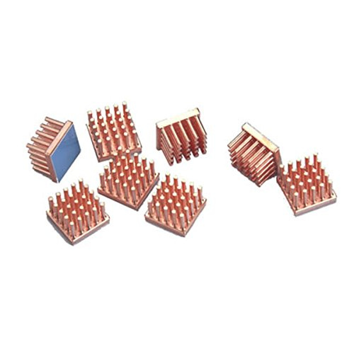 (Enzotech Graphics Card Passive Heat Sink, 14 x 14 x 9 mm, Copper, 8-Pack)