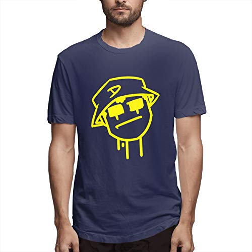 Rip Nipsey-Hussle Respect Rapper Men's Retro Vintage Shirt S Navy ()