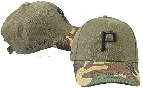 Hat Pirates- Memorial Day Camo/Military-Curve Brim