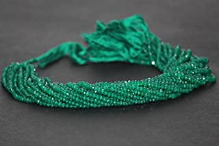 1 Strand Natural Green Onyx Faceted Rondelle Beads 4-4.5mm 13 Inches Strand SHRI NATH GEMS & JEWELLERY
