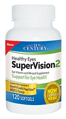 21st Century Healthy Eyes Supervision Softgels, 120 Count - Buy Packs and Save (Pack of 5)
