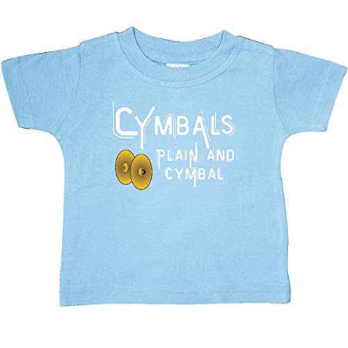 inktastic - Plain and Cymbal White Text Baby T-Shirt 6 Months Light Blue 2adf4 ()
