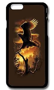 iPhone 6 Case Cover, Golden Eagle Custom Slim Hardshell Case for iPhone 6 4.7 Inch - Black
