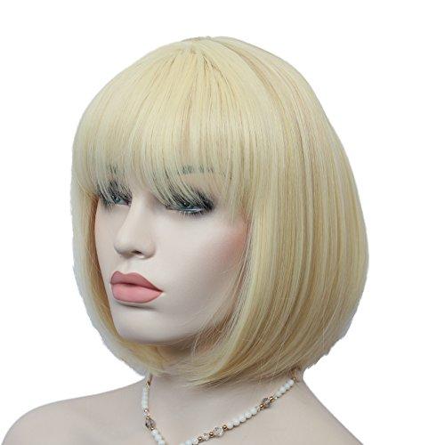 Women Bob Hairstyle Wig Kanekalon (Mixed Color) - 6
