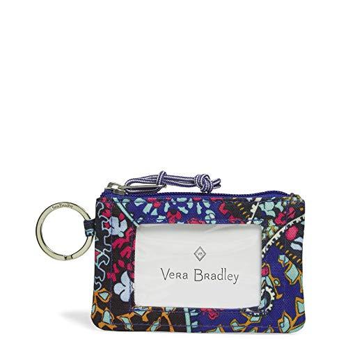 Vera Bradley Lighten Up Zip ID Case, Polyester, Petite Paisley