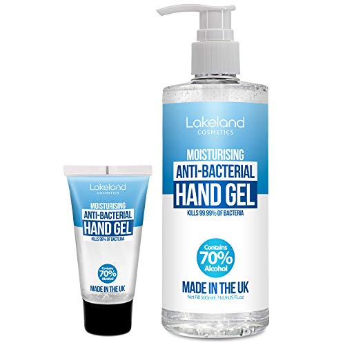 Hand Sanitiser Gel 500ml with pump & 50ml pocket tube – 70% Alcohol Surgical/Medical Grade – Anti-Bacterial Hand Hygiene…