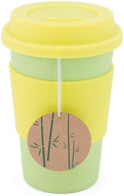 Amazon Com Peterson Housewares Bamboo Fiber Eco Cup 16 Oz Green Kitchen Dining