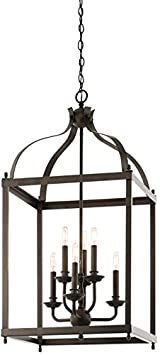 Kichler 42568OZ Larkin Foyer Chandelier 6-Light, Olde Bronze