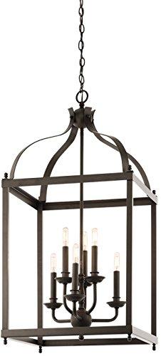 (Kichler 42568OZ Larkin Foyer Chandelier 6-Light, Olde Bronze)