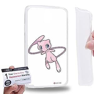 Case88 [Samsung Galaxy Note 3 Neo N750 N7505] Gel TPU Carcasa/Funda & Tarjeta de garantía - Pokemon Pokemon Mew 0563