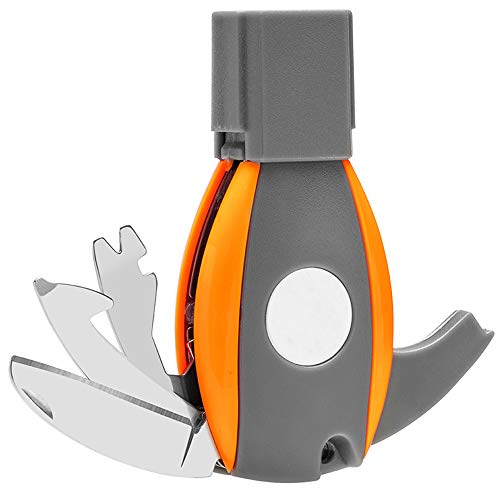6 in1 Key Knife Auto Emergency Escape Tool Folding Knife Window Breaker,Seatbelt Cutter for Car Safety,Outdoor,Home Repair Gadget