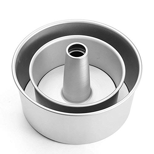 GDGY Aluminum Alloy Round Hollow Chiffon Cake Mold Angel Food Cake Pan Baking Mould with Removable Bottom - Mould Food