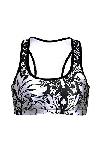 Des femmes sans jantes Racerback Fitness sport soutien-gorge Yoga Vest