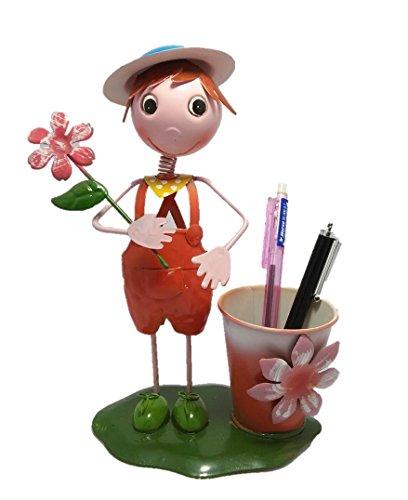Sanitizer Vessel (Sawasdee Pen Holder,Pen Pencil Container Bending Thin metal Pot Holder Desk Organizer Decoration,Luxury Gift and Exquisite Handicraft.)