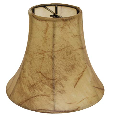 Slant Empire Chandelier Lampshade with Flame Clip, Antique Parchment (Set of 6), (SI51945)