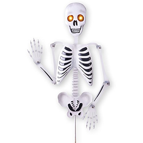 Lighted Posable Skeleton Garden Stake by Collections Etc
