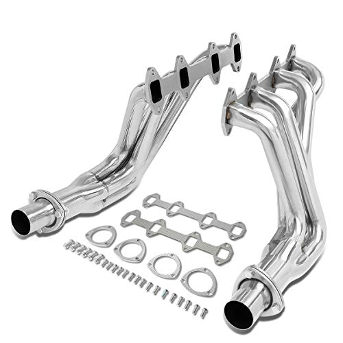Pair Stainless Steel Full Length Long Tube Exhaust Header Manifold for 66-76 Ford F100/F150/F250