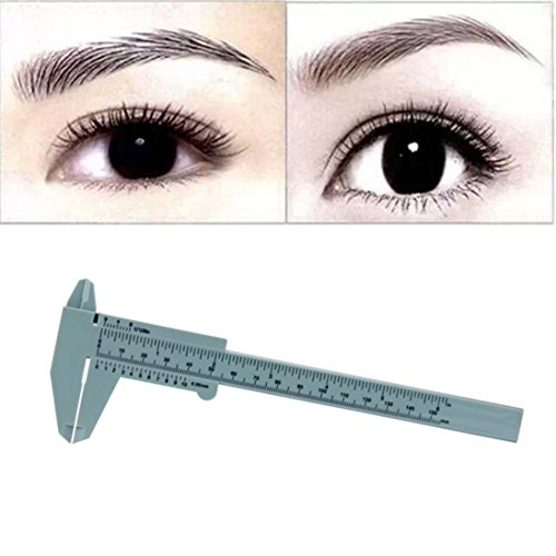 Vovotrade Microblading Reusable Makeup Measure Eyebrow Guide Ruler Permanent Tools - Measure Shape Face How To