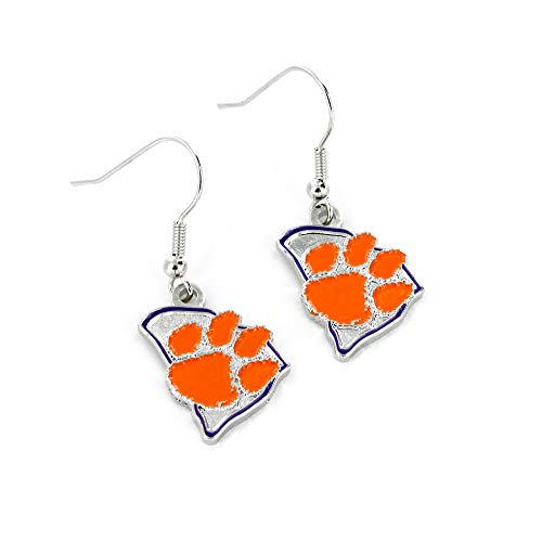 Ncaa Clemson Tigers Home Accessories - NCAA Clemson Tigers Home State Earrings