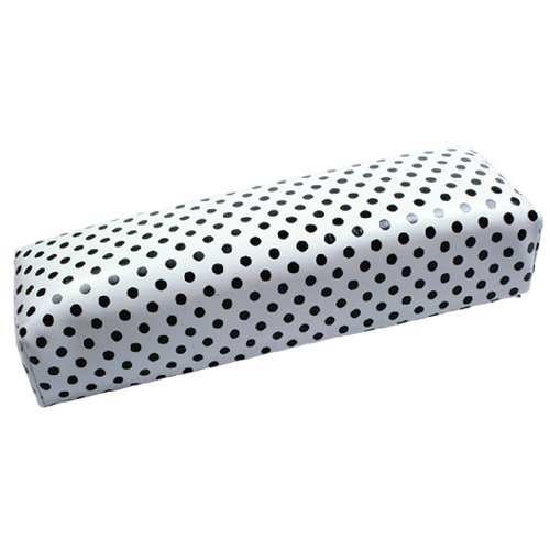 Confortable Flexible Foam Rubber Hand Rest, Arm Rest Holder, Arm Pillow, Column for Nail Treatment, Modelling or Decorating - White Colour with Black dots INGINAILS