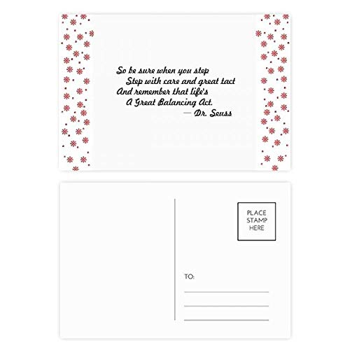 (Care And Tact Give You Balance Life Quotes Christmas Flower Postcard Thanks Card Mailing 20pcs)