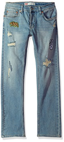 Levi's Boys' Big 511 Slim Fit Distressed Jeans, Mission Beach ()