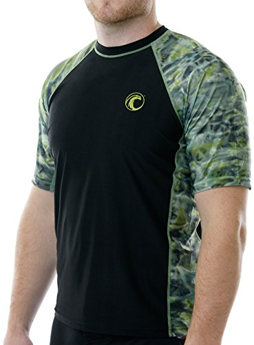 Aqua Design Men Loose Fit Rash Guard Surf Swim UPF Sun Protection 5XL