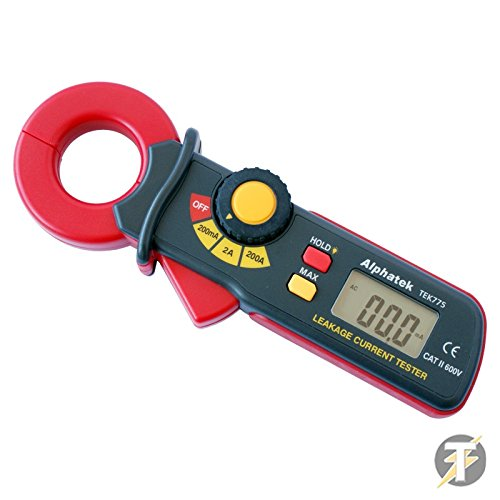 Price comparison product image Metrel Alphatek TEK775 - AC, LCD Mini Earth Leakage Current Tester / Clamp Meter, 3 Ranges: 200 Milliamperes, 2 & 200 Amps by Metrel