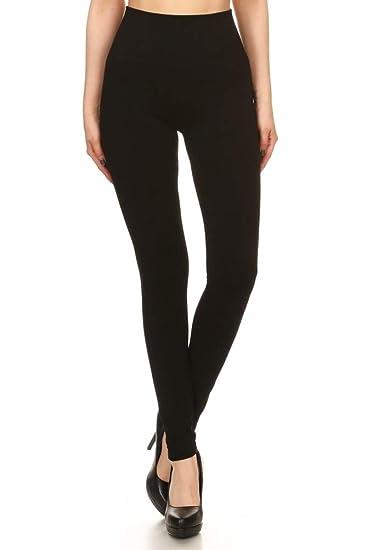 f6ccdd86408 ShoSho Womens Thick High Waist Tummy Control Compression Slimming Leggings  Black Small Medium