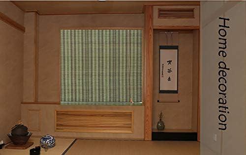 Estores de bambú Persianas enrollables de Color Verde Oscuro Bambú para Ventanas/Puertas, privacidad Enrolla Las persianas Toldos con Gancho, Ancho 45-135cm (Tamaño : 90×160cm): Amazon.es: Hogar