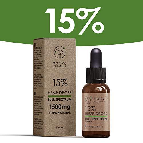 Native Botanics 1500mg (15%) Full Spectrum Hemp Extract Drops to Help...