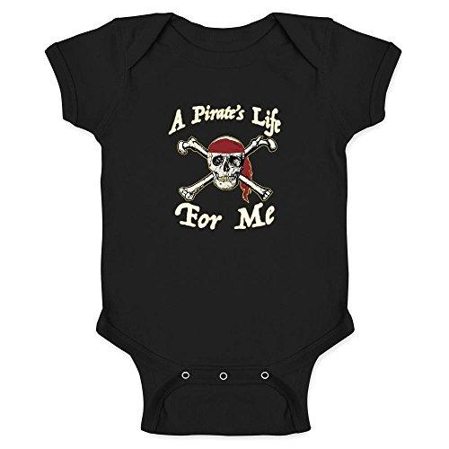Pop Threads A Pirate's Life For Me Halloween Costume Skull Black 18M Infant Bodysuit