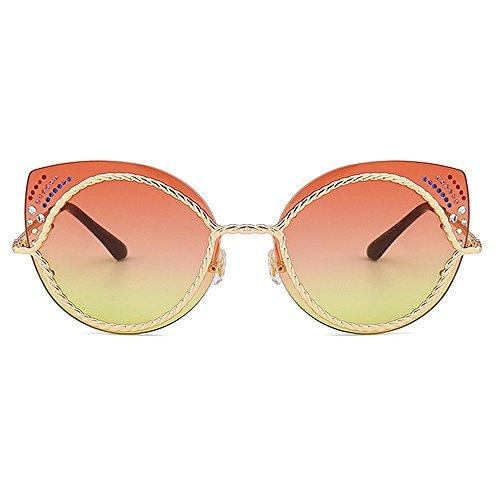 de para Marco playa polarizadas la ULTRAVIOLETA colorido gafas cristalino las la cuerda las la protección de de metal la gato de de vacaciones conducción al para Ojos mujeres aire libre C3 de sol del rUrgq1ZO