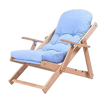 Amazon.com: ZZJ Silla reclinable reclinable de madera maciza ...