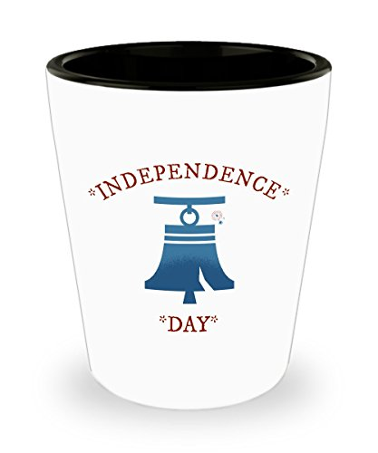 Liberty Bell Shot Glass - Independence Day Gift - Great for 4th of July!